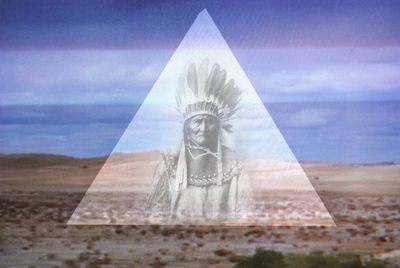 Pyramid with Sitting Bull-Great Imagery
